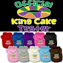 King Cake Taster Screen Print Mardi Gras Dog Hoodie
