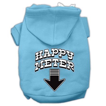 Happy Meter Screen Printed Dog Pet Hoodies Baby Blue Size XXL