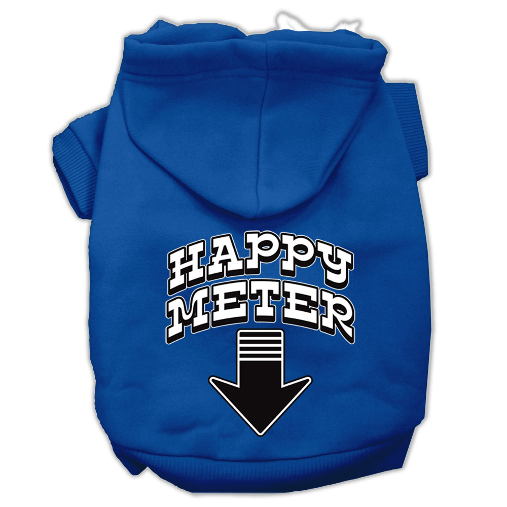Happy Meter Screen Printed Dog Pet Hoodies Blue Size XXXL