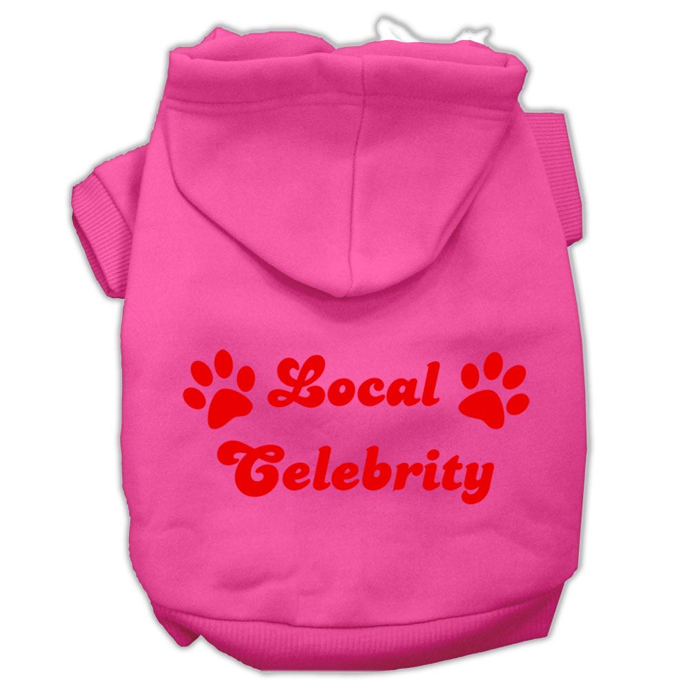 Local Celebrity Screen Print Pet Hoodies Bright Pink Size XXXL