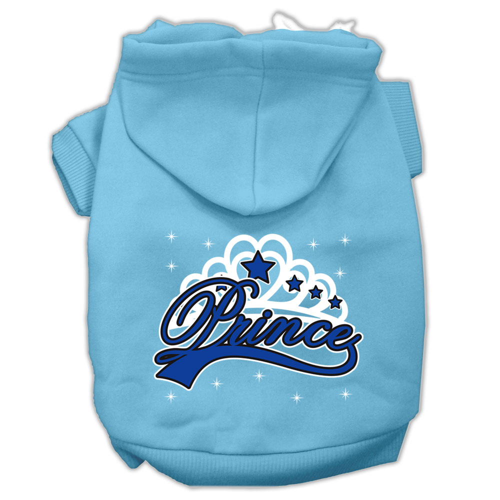 I'm a Prince Screen Print Pet Hoodies Baby Blue Size XXXL
