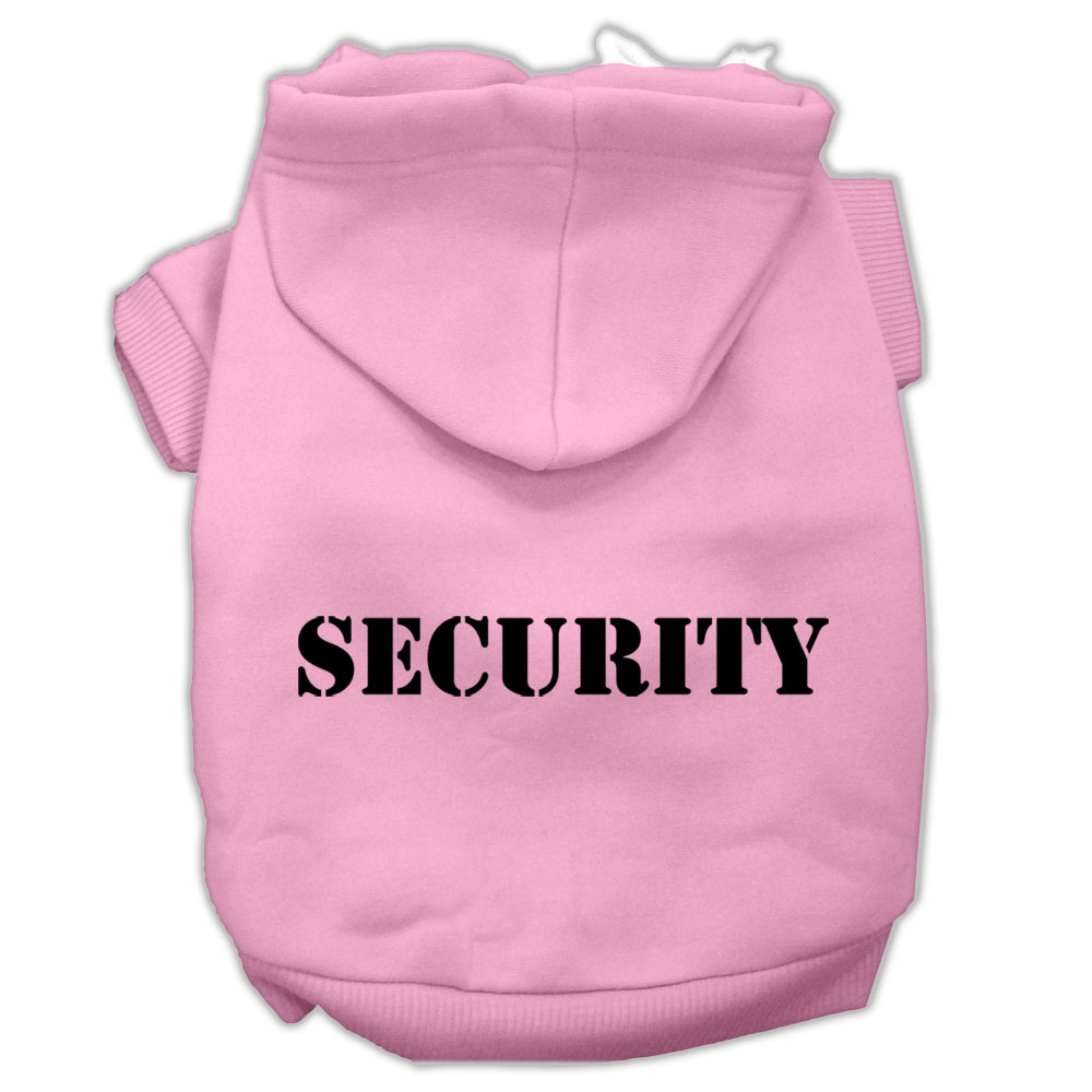 Security Screen Print Pet Hoodies Light Pink Size w/ Black text XXXL
