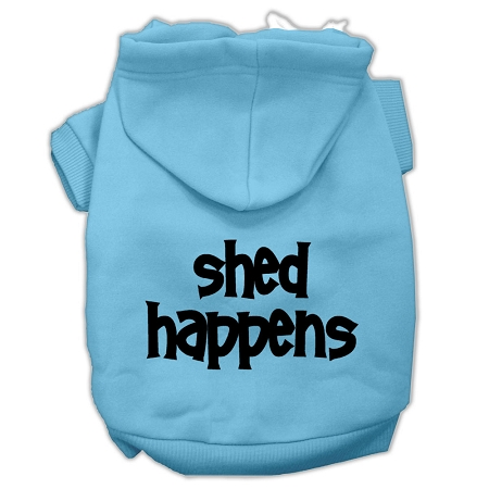 Shed Happens Screen Print Pet Hoodies Baby Blue Size XXXL