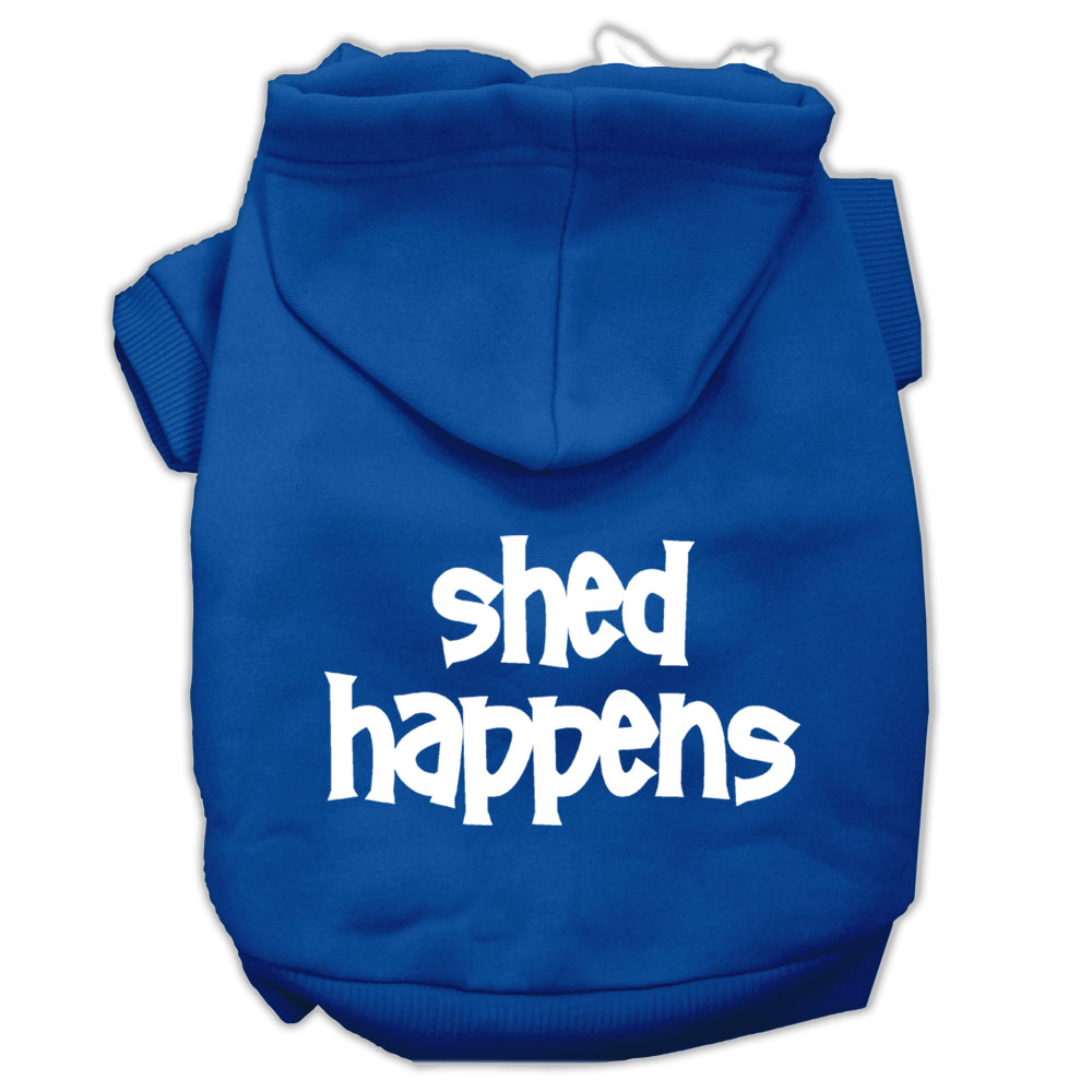 Shed Happens Screen Print Pet Hoodies Blue Size XXXL
