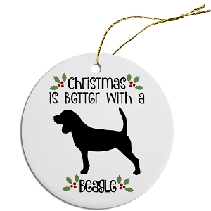 Breed Specific Round Christmas Ornament Beagle
