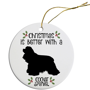 Breed Specific Round Christmas Ornament Cocker Spaniel