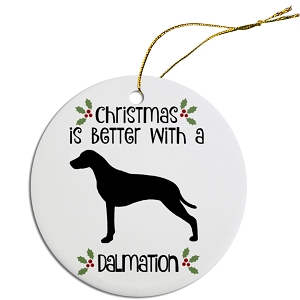 Breed Specific Round Christmas Ornament Dalmation
