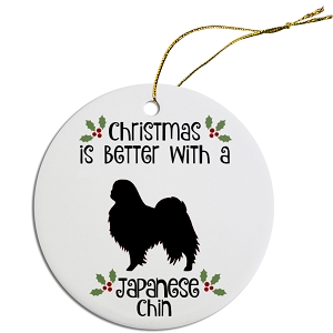 Breed Specific Round Christmas Ornament Japanese Chin