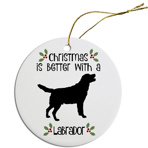 Breed Specific Round Christmas Ornament Labrador