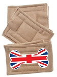 Peter Pads Tan Size XS British Bone Flag Screen Print 3 Pack