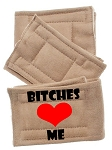 Peter Pads Tan Size XS Bitches Love Me Screen Print 3 Pack