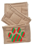 Peter Pads Tan Size XS Christmas Paw Screen Print 3 Pack