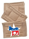 Peter Pads Tan Size XS Democrat Screen Print 3 Pack