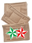 Peter Pads Tan Size XS Double Holiday Stars Screen Print 3 Pack