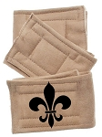 Peter Pads Tan Size XS Fleur De Lis Screen Print 3 Pack