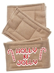 Peter Pads Tan Size XS Holly N Jolly Screen Print 3 Pack