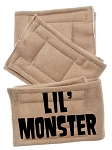 Peter Pads Tan Size XS Lil Monster Screen Print 3 Pack