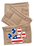Peter Pads Tan Size XS Paw Flag Screen Print 3 Pack