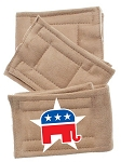 Peter Pads Tan Size XS Republican Screen Print 3 Pack