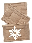 Peter Pads Tan Size XS Snowflake Screen Print 3 Pack