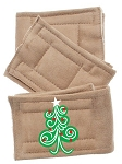Peter Pads Tan Size XS Swirly Christmas Tree Screen Print 3 Pack