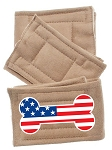 Peter Pads Tan Size XS USA Bone Flag Screen Print 3 Pack