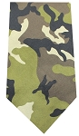Plain Patterned Bandana Green Camo