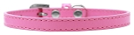 Omaha Plain Puppy Collar Bright Pink Size 8