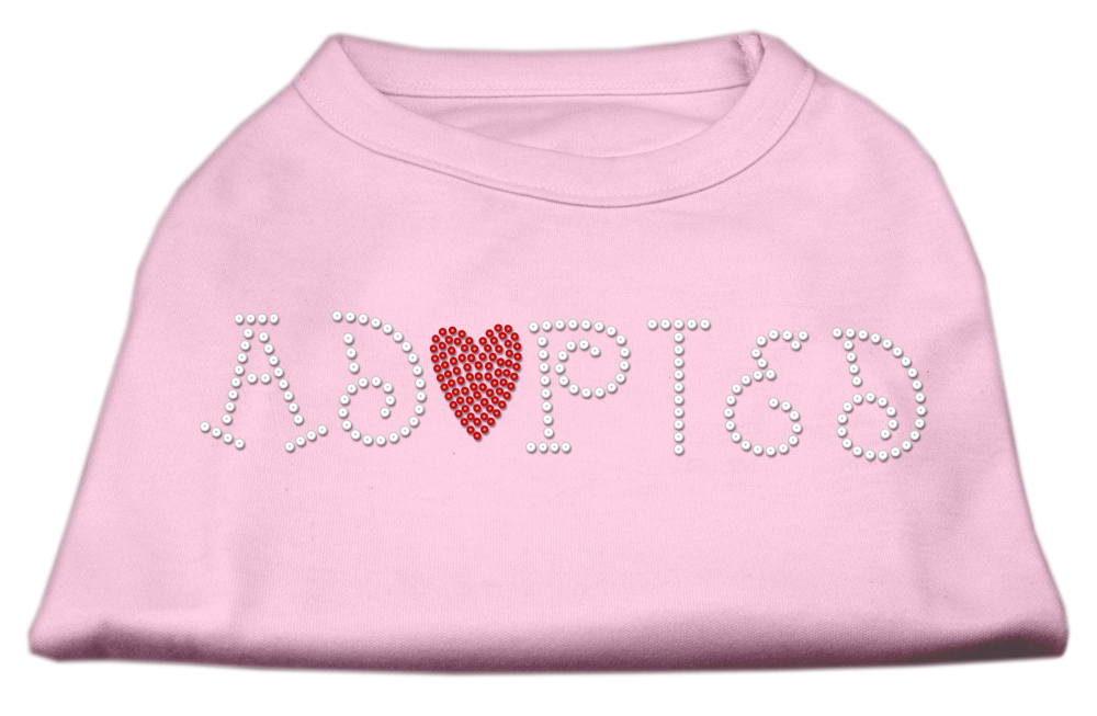 Adopted Rhinestone Shirt Light Pink XXL