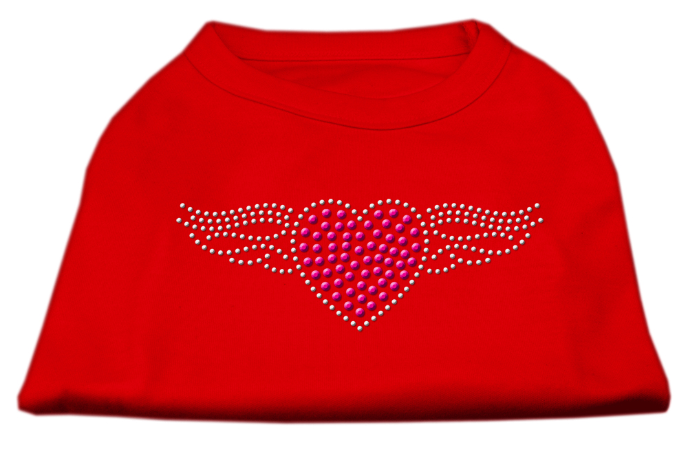 Aviator Rhinestone Shirt Red S