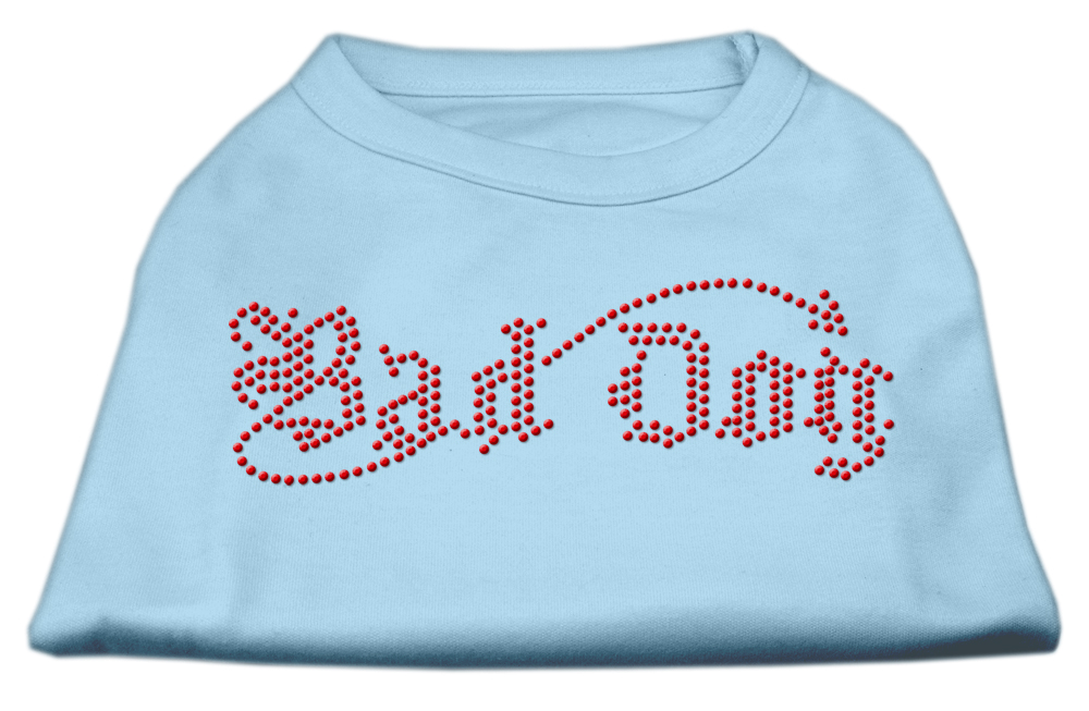 Bad Dog Rhinestone Shirts Baby Blue XXL