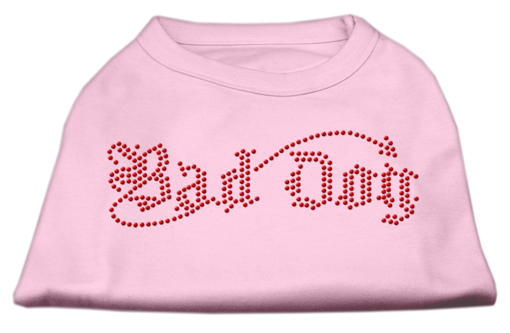Bad Dog Rhinestone Shirts Light Pink XL