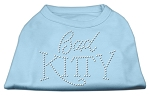 Bad Kitty Rhinestud Shirt Baby Blue XS