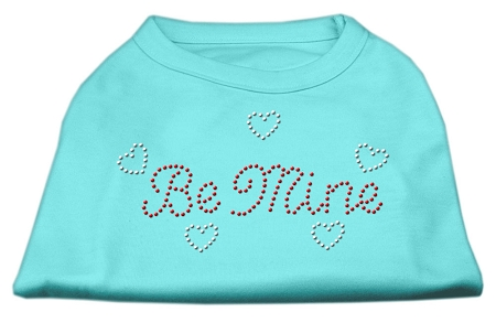 Be Mine Rhinestone Shirts Aqua L