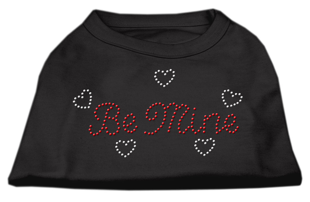 Be Mine Rhinestone Shirts Black XXXL