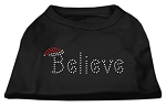 Believe Rhinestone Shirts Black XS