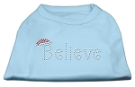 Believe Rhinestone Shirts Baby Blue XL
