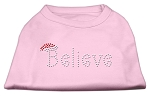 Believe Rhinestone Shirts Light Pink XS