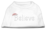 Believe Rhinestone Shirts White S