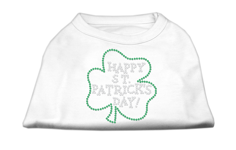 happy st  patrick u0026 39 s day rhinestone shirts white xs  8