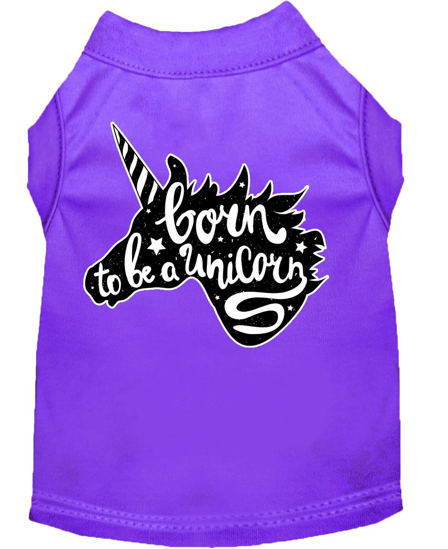 Born to be a unicorn screen print dog shirt purple xxxl 20 for Where to screen print shirts