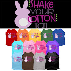 Shake Your Cotton Tail Screen Print Dog Shirt