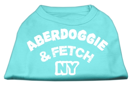 Aberdoggie NY Screenprint Shirts Aqua XL