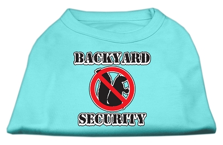 Backyard Security Screen Print Shirts Aqua XL