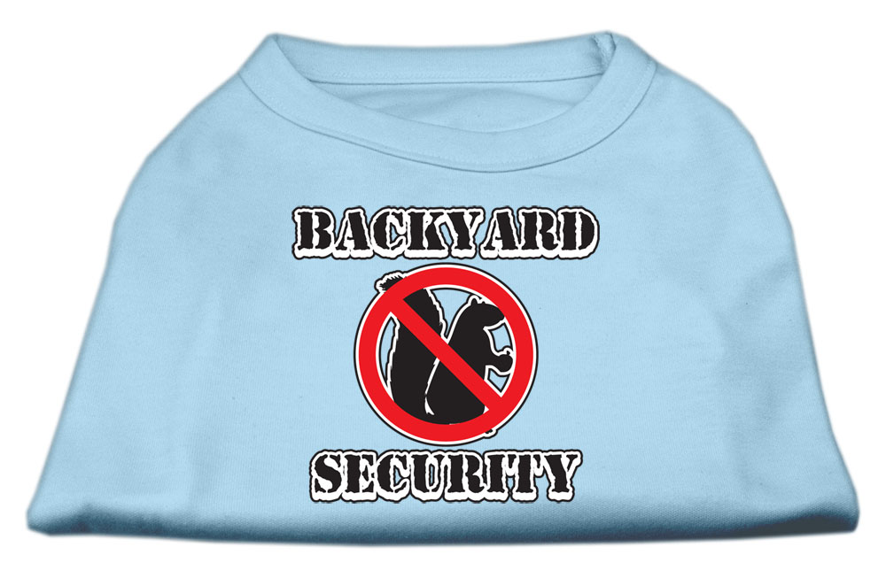 Backyard Security Screen Print Shirts Baby Blue XS