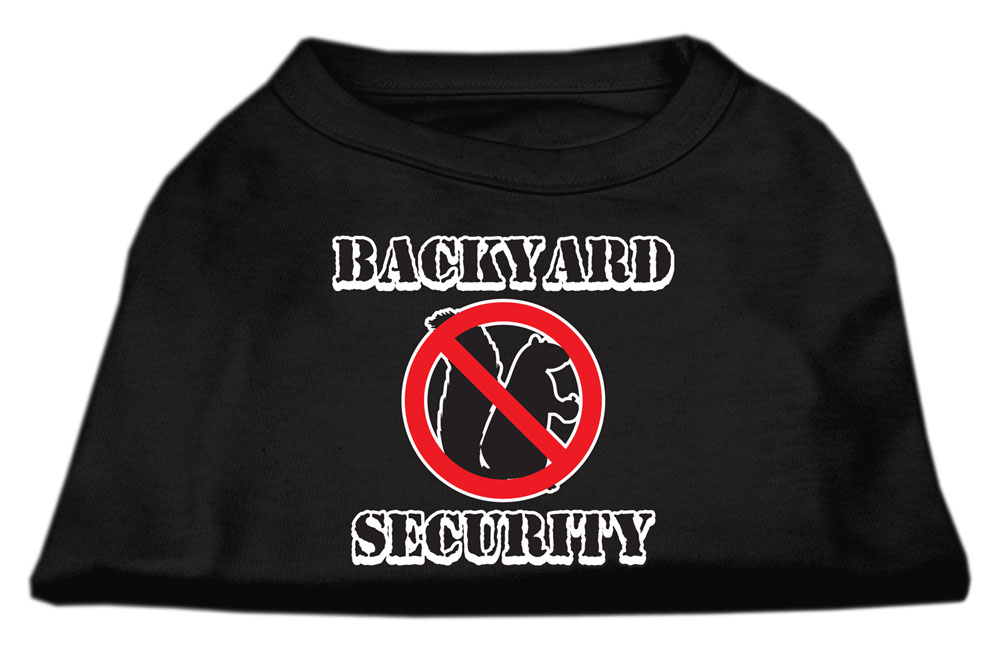 Backyard Security Screen Print Shirts Black XXL