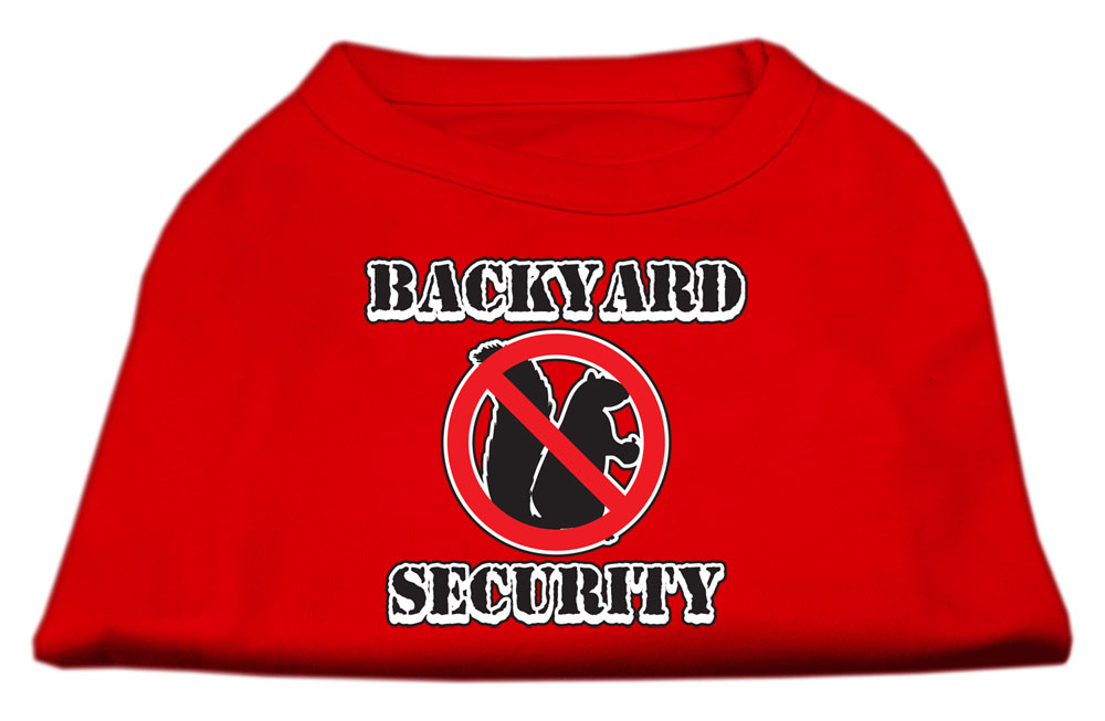 Backyard Security Screen Print Shirts Red M