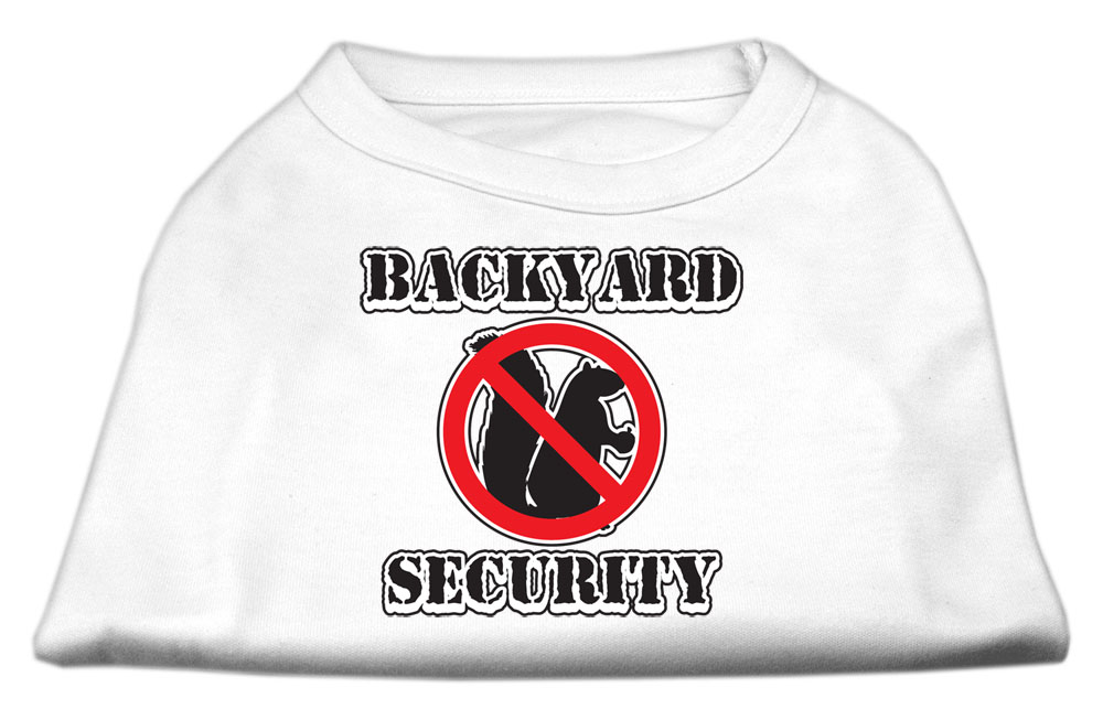 Backyard Security Screen Print Shirts White XS