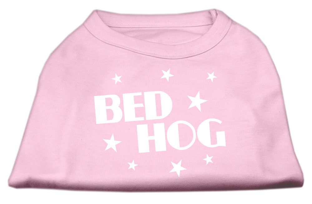 Bed Hog Screen Printed Shirt Light Pink Lg