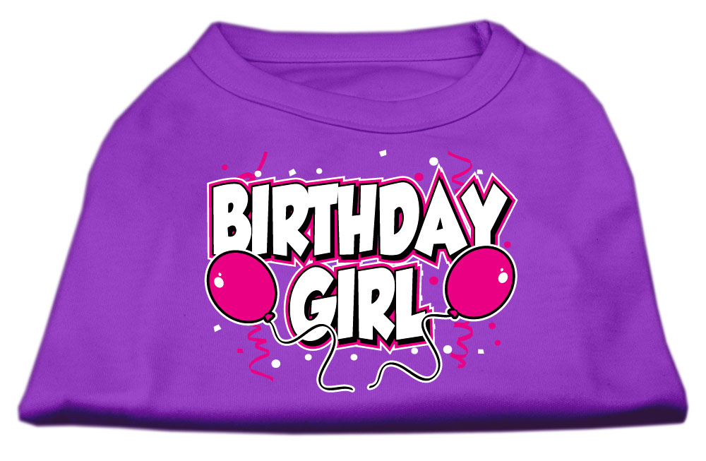 Birthday Girl Screen Print Shirts Purple XXL